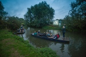 Punting and viewing at Grantchester Meadows